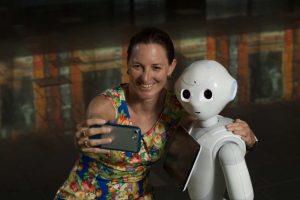 Robot Pepper para selfie