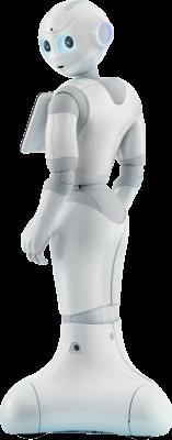 Robots para eventos Pepper de perfil