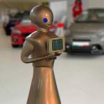 Robots negocios Tokyo dorado concesionarios