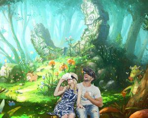 Realidad Virtual de un paisaje de fantasía