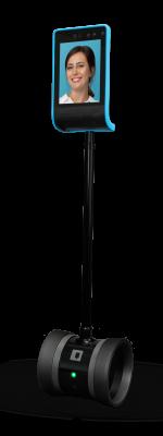 Tobot palo negro y pantalla cencendida