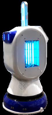 Robot desinfectante Servobot Sanitary UV desinfectante blanco y azul