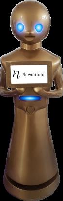 Aluiler Robot Evento con pantalla en el pecho